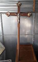 Крест-распятие траурный из дерева