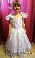 Прокат платья белого с корсетом на утренник
