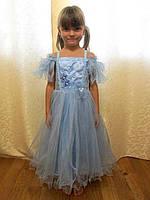 Голубое платье для девочки на выпускной или утренник на прокат