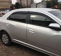 """Дефлекторы окон (ветровики) Chevrolet Cobalt Sd 2012""""EuroStandard"""" (Шевроле Кобальт) Cobra Tuning"""
