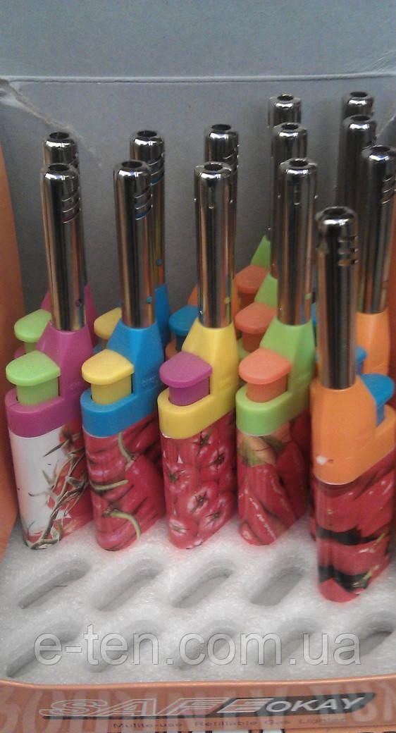 Зажигалка газовая  разноцветная Mini