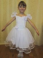 Белое пышное платье на утренник на прокат в Харькове