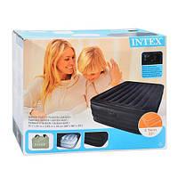 Кровать надувная двуспальная с подголовником INTEX 66718