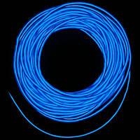 Холодный неон / электролюминисцетный провод 3-го поколения 5 мм, синий (розница, опт)