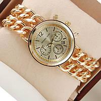 Часы Michael Kors золотые двойная цепь