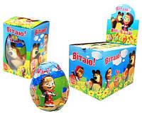 Яйцо шоколадное Маша и Медведь 24 шт, 60 гр (ANL)