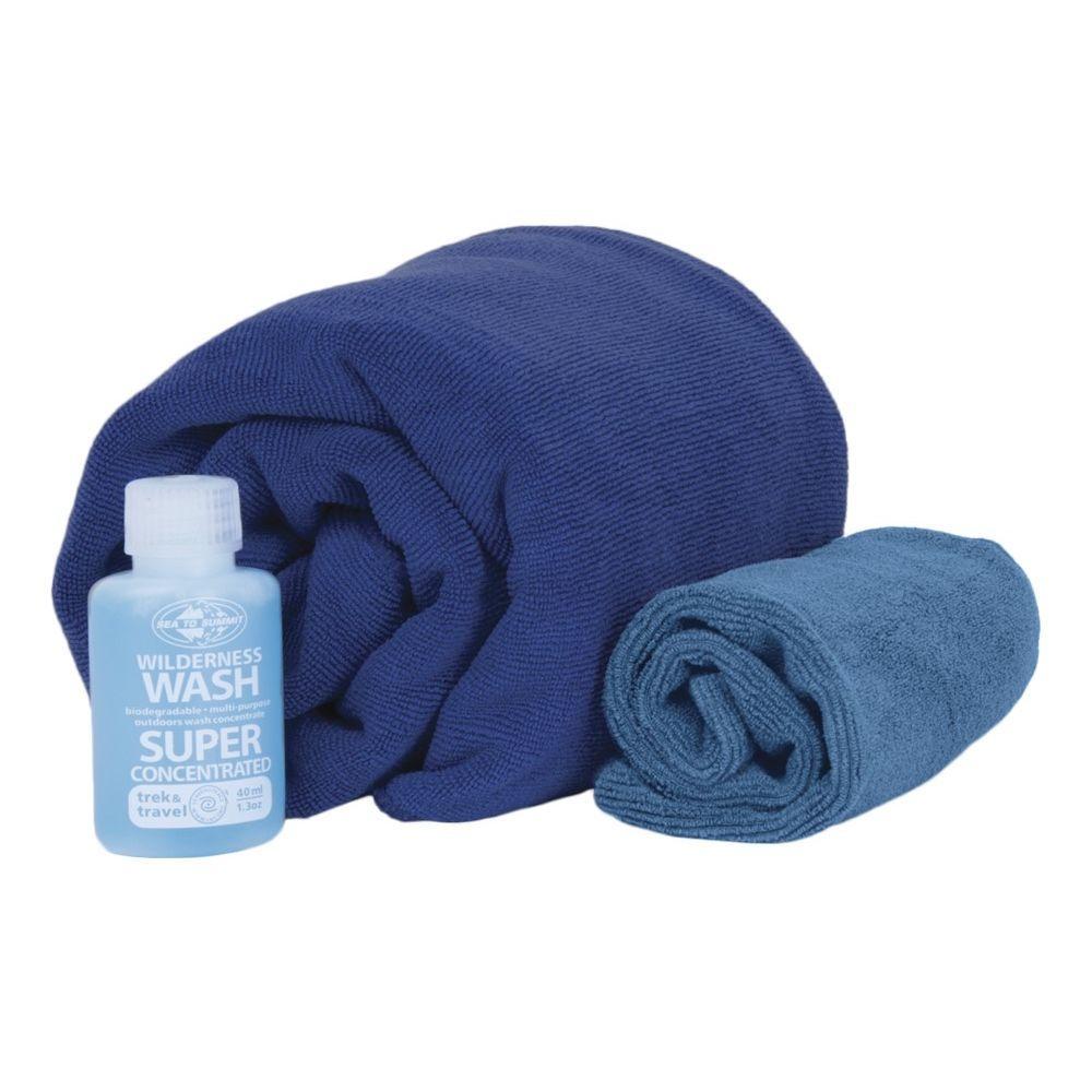 Набор полотенец Sea To Summit Tek Towel Wash Kit L + туристическое мыло