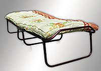 Раскладная кровать (раскладушка) на ламелях с ватным матрасом без колес, фото 1