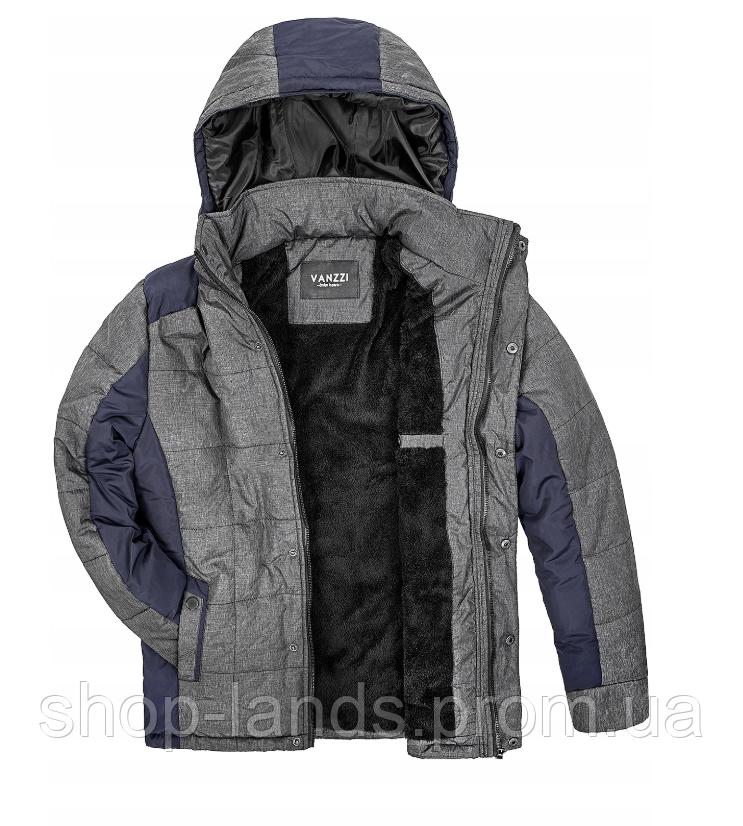 1ca1a26f17e Мужская зимняя куртка серого цвета с капюшоном 1396Z - Shop-land в Львове