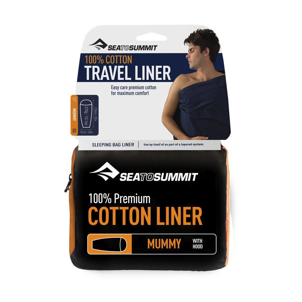 Вкладыш в спальник Sea To Summit Premium Cotton Liner Mummy Hood