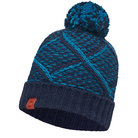 Шапка Buff Knitted Hat Plaid, Medieval Blue, фото 2