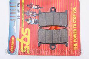 Тормозные колодки SBS 634HF керамика аналог FDB605 / MCB611 / BREMBO 07YA23 / BRAKING BR786SM1/ EBC FA252