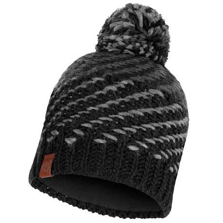 Шапка Buff Knitted & Polar Hat Nella, Graphite, фото 2