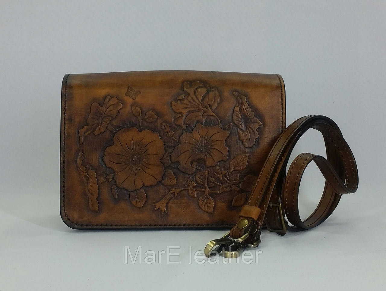 408debb185f7 Женская сумочка ручной работы с тисненым рисунком (16 х 23 х 10. см ...