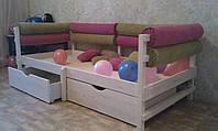 Кровать детская из сосны, фото 1