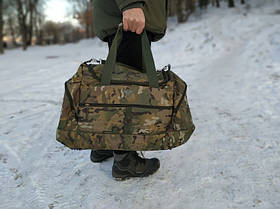 Воєнна дорожня сумка транспортна індивідуальна CARGO на 50 літрів Multicam | Мультиків (транспортна військова)