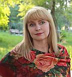 10183-6, павлопосадский платок шерстяной (разреженная шерсть) с швом зиг-заг, фото 8