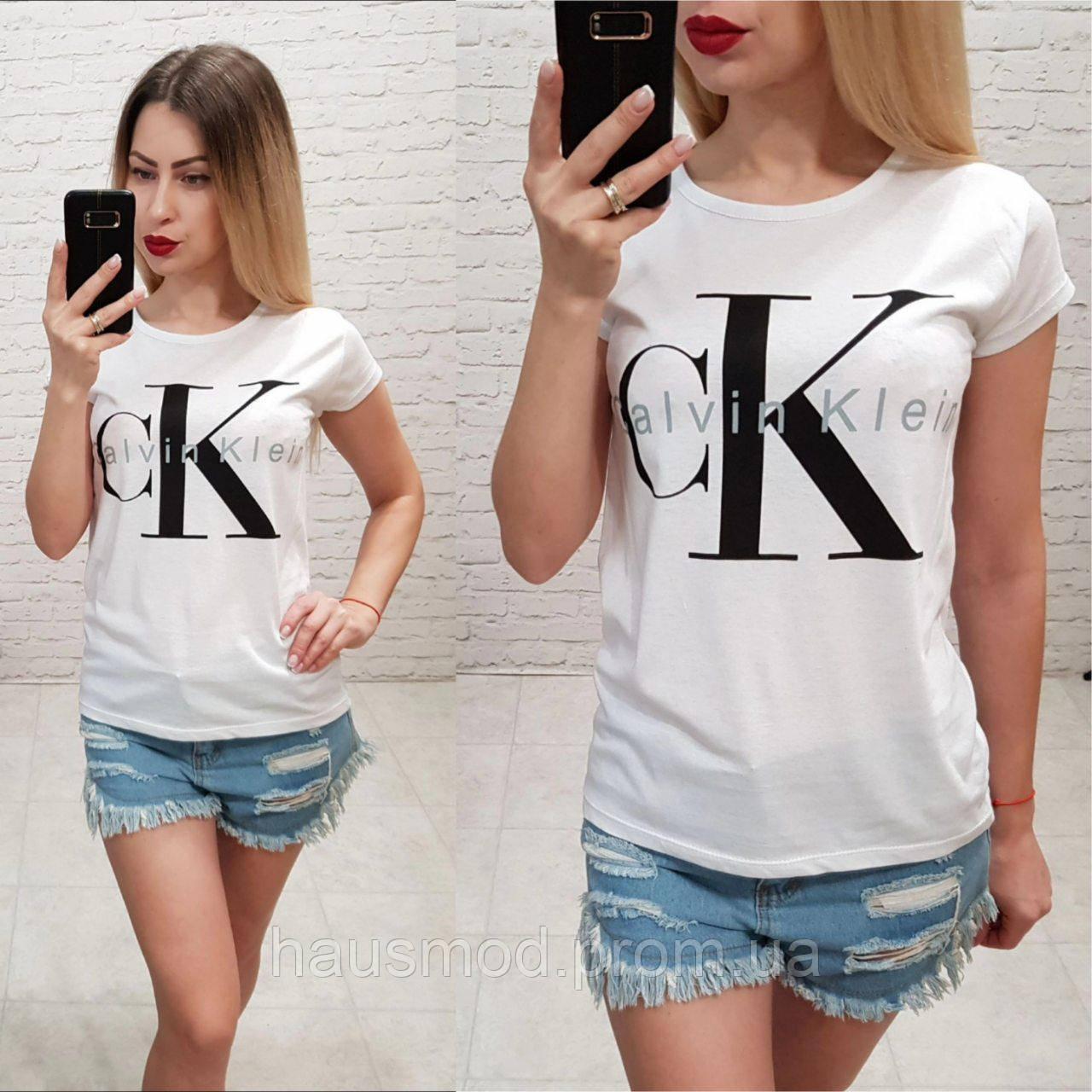 10a417033f439 Женская стильная летняя футболка 100% катон реплика Calvin Klein Турция  серая, цена 170 грн., купить в Одессе — Prom.ua (ID#898550787)