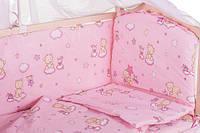 """Фирменный комплект постельного белья """"МАЛЮТКА"""" мишка и тучка, фото 1"""