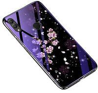 TPU+Glass чехол Fantasy для Huawei Honor 10 Lite / P Smart (2019) Цветение