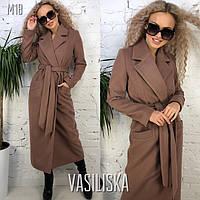Женское пальто длинное кашемировое