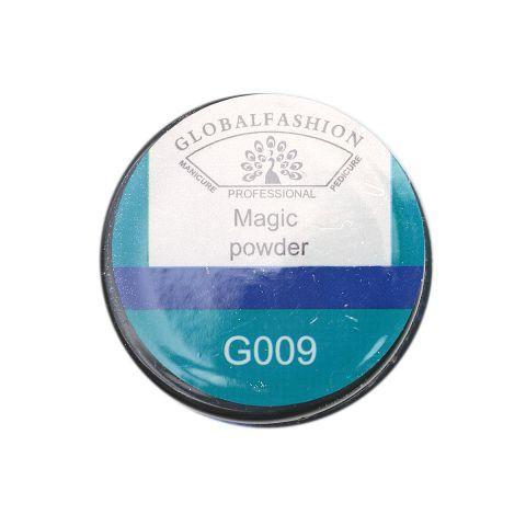 Втирка для ногтей Global Fashion, синий, Magic Powder