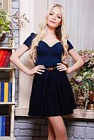 Платье с расклешенной юбкой в 2х цветах Риччи