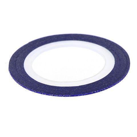 Лента для декора синее сияние