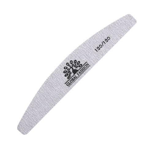 Пилочка для ногтей Global Fashion 120/120 серая (опт 24шт)