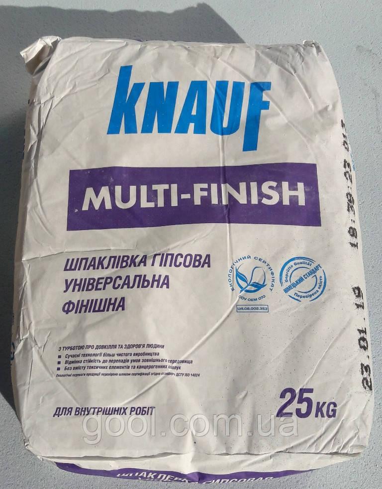 Шпаклевка Кнауф Мульти Финиш финишная гипсовая 25 кг.