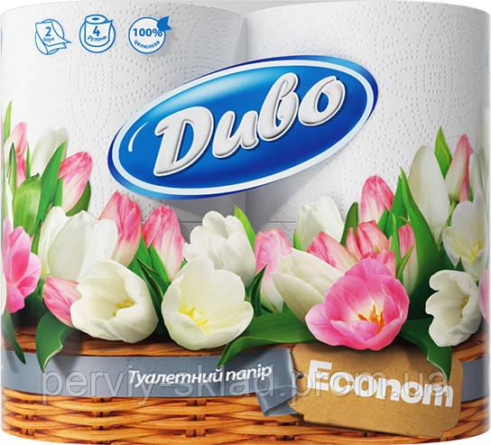 Туалетная бумага Диво (Эконом)  4шт