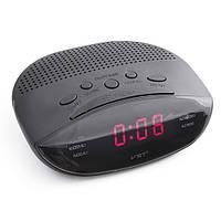 Радио-будильник для дома и офиса vst 908-1, сетевые часы, красный led-дисплей, отсрочка сигнала, спящий режим