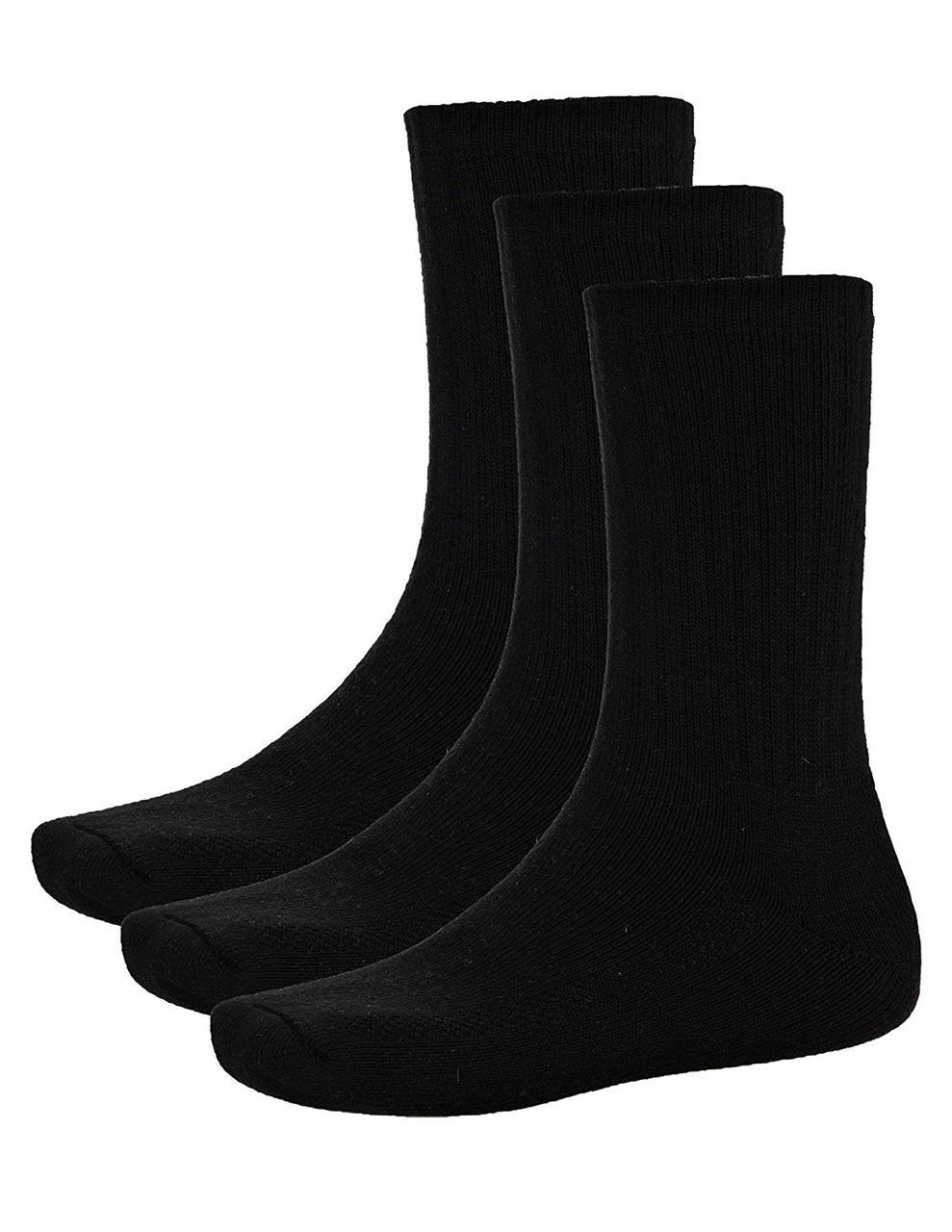 Носки спортивные мужские 3 пары комплект черные