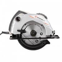 Пила дисковая 1300 Вт, 5000 об/мин, угол наклона 0-45° глубина распила 41/57 мм,INTERTOOL DT-0613