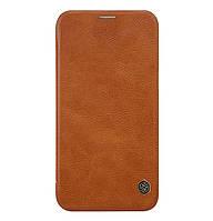 Кожаный чехол-книжка Nillkin Qin Series для Samsung Galaxy J2 (2018) SM-J250F Brown