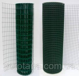 Сварная сетка в рулонах Премиум 1.5х10м высотой с ПВХ покрытием