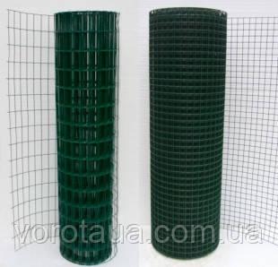 Сварная сетка в рулонах Премиум 2х10м высотой с ПВХ покрытием