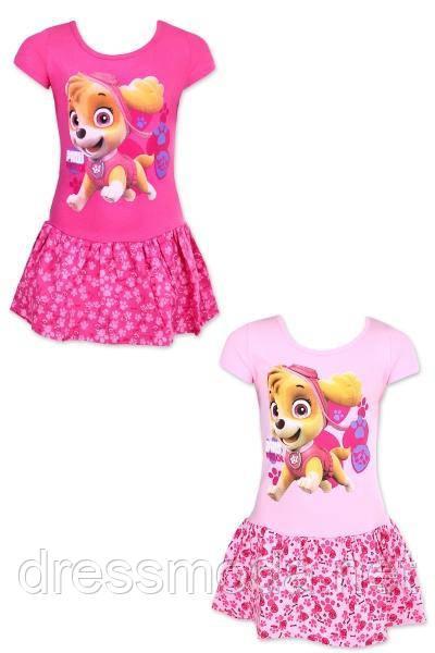 Платье трикотажное  для девочек Paw Patrol 98-128 р.р.