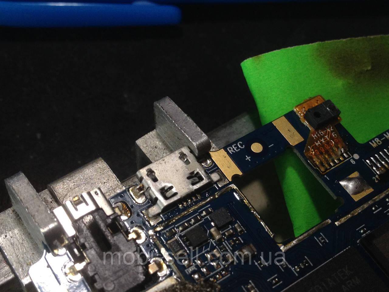 Коннектор зарядки и USB для Ergo A503 Optima (гнездо, разъем)