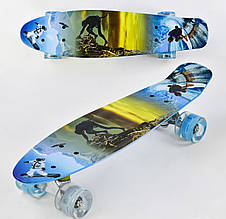 Скейт детский Penny board F 3270Пенни борд со светящимися колесами
