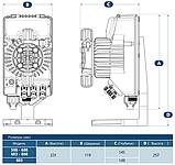Дозирующий насос AquaViva 15 л/ч (APG800) универсальный пропорционального дозирования, фото 9