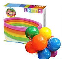 Детский надувной бассейн Intex 57422-1 «Цвета заката», 147 х 33 см, с шариками 10 шт.
