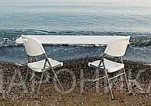 Комплект складной пластиковой мебели  Стол 18301+ 2 Стула 5321 белый