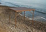 Комплект складаний пластикових меблів Стіл 8602 + 4 Стільця 5330 ротанг коричневий, фото 3