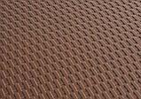 Комплект складаний пластикових меблів Стіл 8602 + 4 Стільця 5330 ротанг коричневий, фото 6