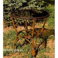 Стол из алюминия и искусственного ротанга, диаметр 70 см ALT - 7090