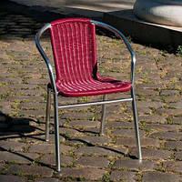 Стул алюминиевый с сиденьем из искусственного ротанга Вишня ALC - 3105, фото 1