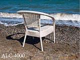 Кресло  из алюминия и искусственного ротанга ALC-4000, фото 2