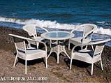 Кресло  из алюминия и искусственного ротанга ALC-4000, фото 4