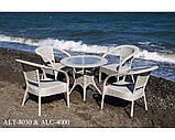 Кресло  из алюминия и искусственного ротанга ALC-4000, фото 5